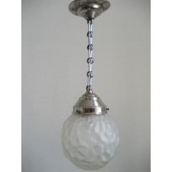 Art Deco hanglamp met  mat glazen bol
