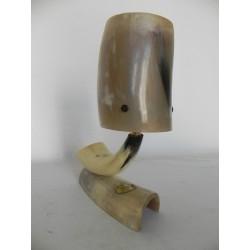 Vintage bureaulampje gemaakt van horens