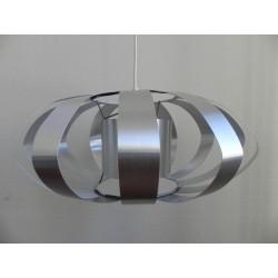 Vintage hanglamp met 12 aluminium stroken, Space Age