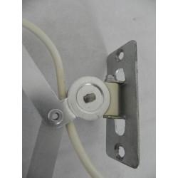 Vintage scharnierlamp, schaarlamp aluminium
