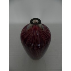 Glazen vintage vaas met kleine opening