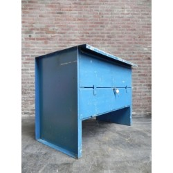 Industriële stalen werkbank met 2 laden en klep