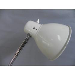 Vintage bureaulamp, werkplaatslamp met buigstang