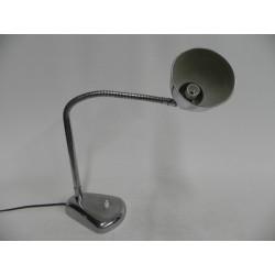 Verchroomde vintage bureaulamp met buigstaaf