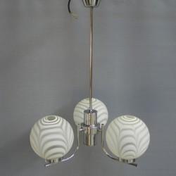 Vintage hanglamp met 3 bollen