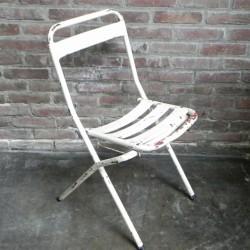 Industrial steel folding chair