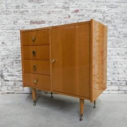 Vintage kast met 4 laden,...