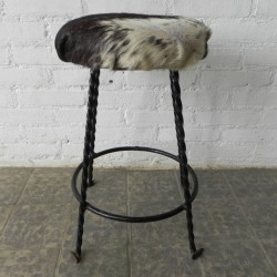 Vintage stool lined with...