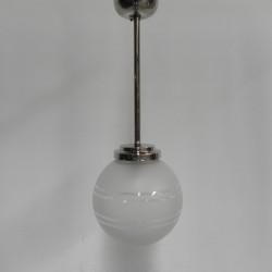Art deco hanglamp met mat...