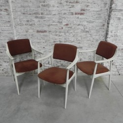 3 vintage stoelen met...