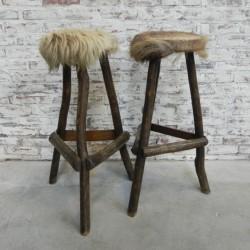 2 vintage bar stools...