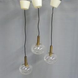 Vintage hanglamp met glazen...