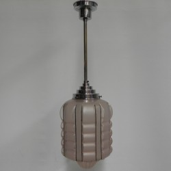 Art Deco hanglamp met roze...