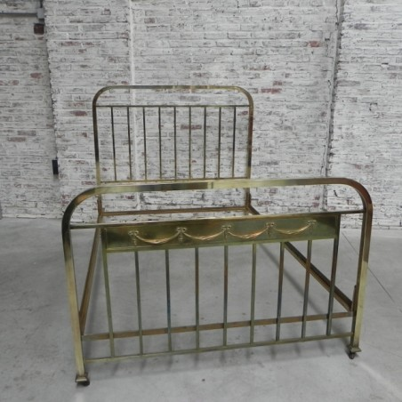Bed 140 Breed.Messing Spijlenbed 140 Cm Breed Brass Crib Bed 140 Cm Wide