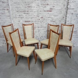 6 vintage upholstered chairs