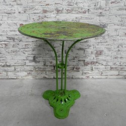 Steel bistro table on cast...