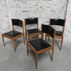 4 vintage stoelen met skai...