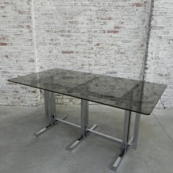 Vintage table with glass...