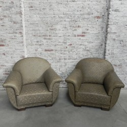 2 grote Art Deco fauteuils