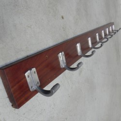 Wall coat rack with 9 hooks