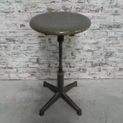 Industrial steel stool with...