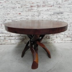 African coffee table with...