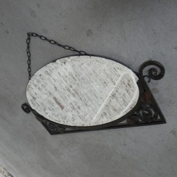 Art Deco mirror in steel frame