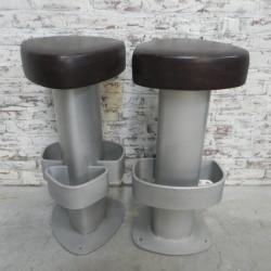 2 designer bar stools