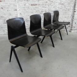 4 Vintage stoelen...