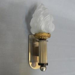 Art Deco wandlamp met fakkel