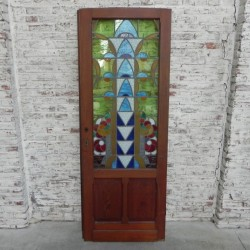 Art Deco glas in lood deur
