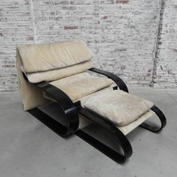 Vintage lounge chair with...