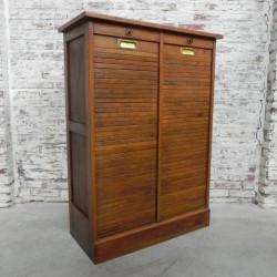 Oak roller shutter cabinet...