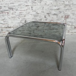 Chromed coffee table with...