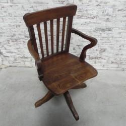 Eiken draaistoel, bureaustoel