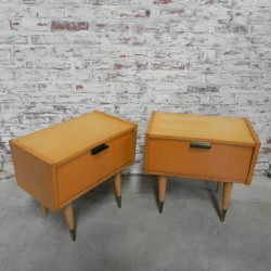 2 vintage bedside tables