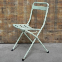 Industrial steel folding chair