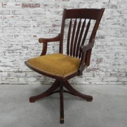 Oak office chair, swivel...