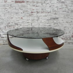 Pastoe coffee table on castors