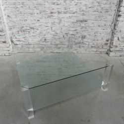 Glass vintage coffee table