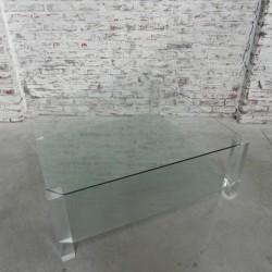 Glazen vintage salontafel