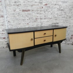 Vintage dressoir 125 cm breed