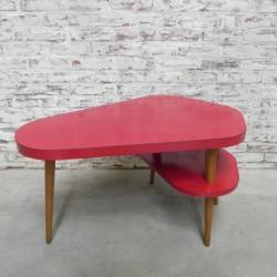 Vintage salontafel met 2...