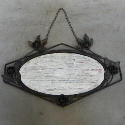 Art Deco mirror in steel frame