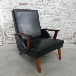 Deense vintage fauteuil met...