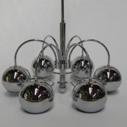 Vintage hanglamp met 6...