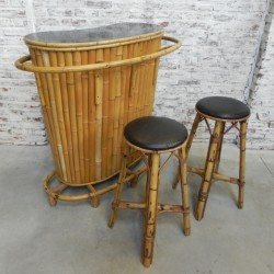 Vintage Tiki bar bamboe...