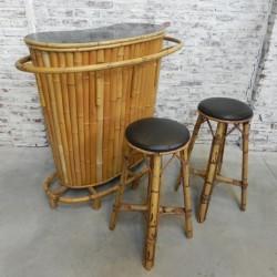 Vintage Tiki bar bamboo...