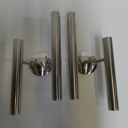 2 chrome wall lamps, Te De...