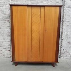 Vintage wardrobe with 3 doors
